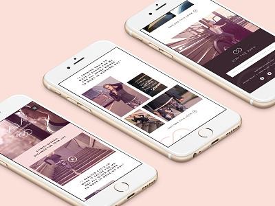 Calia Launch Mobile Site mobile web ux ui typography design