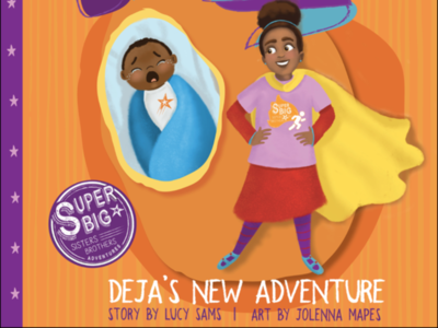Deja's New Adventure children book illustration kids characters procreate illustration digital childrens illustration childrens book