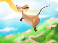 Follow the Cheddar digital illustration playful fiction whimsical illustration digital procreate childrens storybook mouse