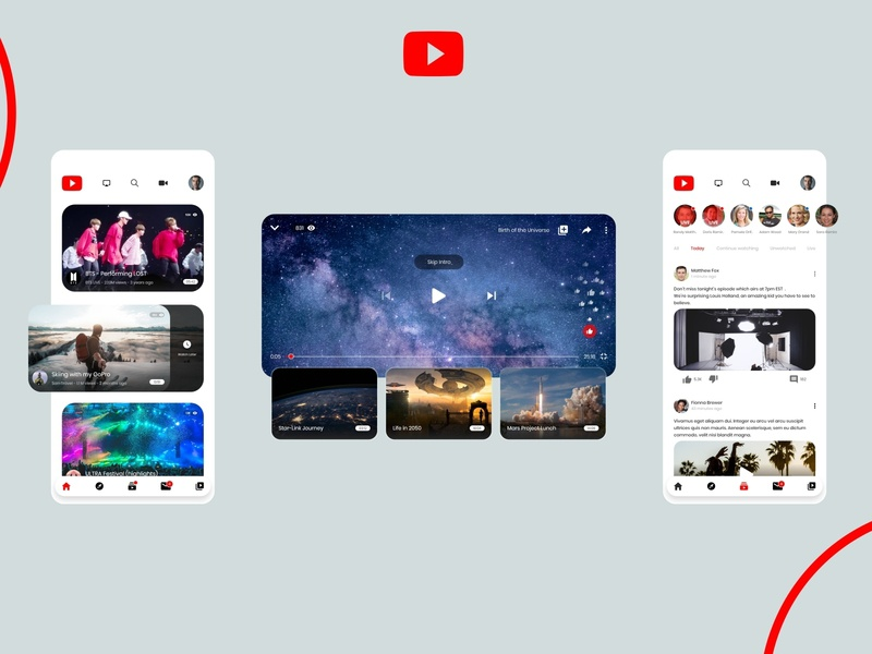 YouTube App Redesign