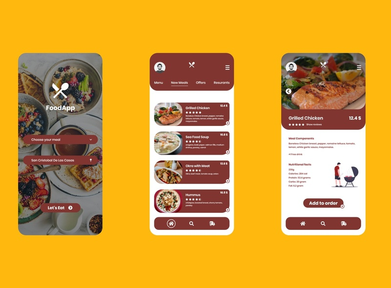 Food Delivery App delivery food foodie food app web app concept adobe xd xd ux ui redesign design