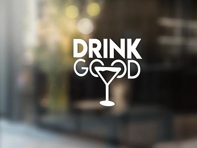 GOOD DRINK LOGO minimal vector ux ui typography logo illustration icon design branding app