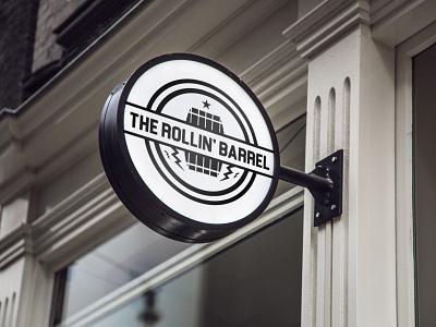 THE ROLLIN BARREL PUB LOGO vector ux ui typography logo illustration icon design branding app