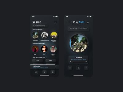 Simple Music Ui illustrator flat ui design ui icon branding app illustration design
