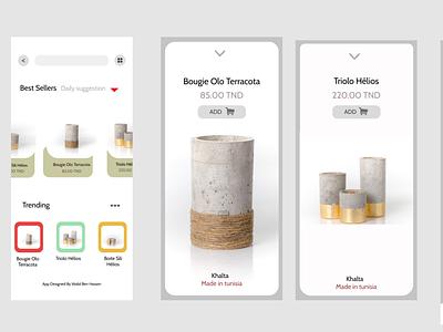 Khalta  Store design tunisia mobile ui uidesign mobile app ui
