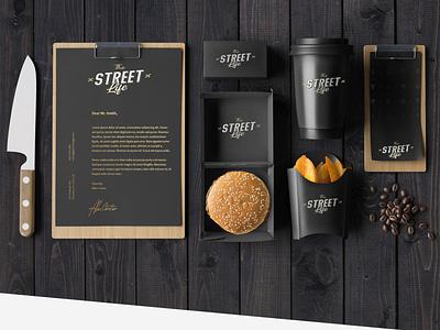 The Street Life Corporate Identity brand identity brand logo food illustration design graphic branding