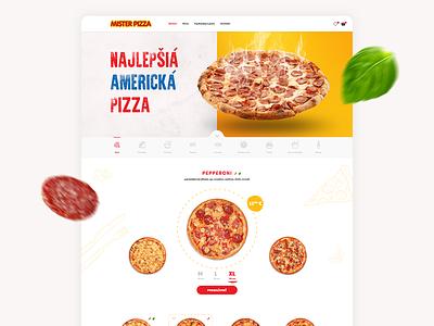 Mister Pizza - brand, web design pizza logo branding website web webdesign food pizza mister brand logo design