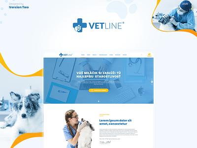 Vetline - Webdesign ux design ui design uiux webdesign ux ui illustrator photoshop illustration paw cat dog design website design web logo veterinary