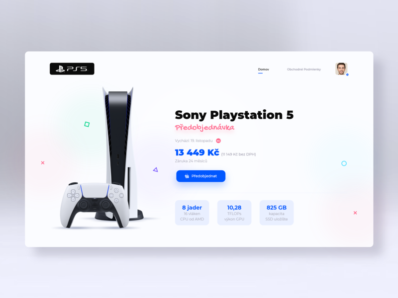 Sony PlayStation 5 - Landing page photoshop adobe xd uxdesign ux uiux ui website builder webdesign website web ps4 ps5 ps sony playstation playstation sony
