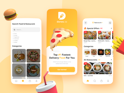 Food Delivery App - Ui Design delivery service foodie delivery app uiux brand logo design ui mobile mobile app food delivery 3d ux design uxui ui design mobile ui app food app order delivery food