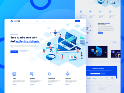 Coreteq - marketing agency UI UX design page landing agency marketing ui brand branding app website uiux web design design illustration web logo ux graphic design
