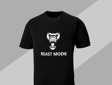 Beast mode T shirt design