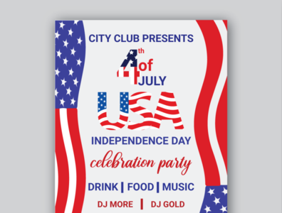 Usa independence day flyer attractive modern national business banner logo design template flyer design festival usa independenceday usa flag