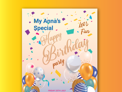 Happy birthday party flyer design personal birth birthday invitation birthday card birthday party flyer party birthday