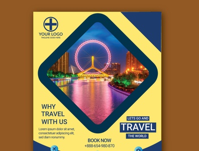Travel flyer design template travelbusiness airport flying travel agency freequenttravel travelagency culture traveling travelflyer travel