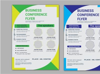 green business conference flyer design template enterpreneur enterprise brand help inspirational branding vector poster design logodesign banner corporate template design design flyer conference business
