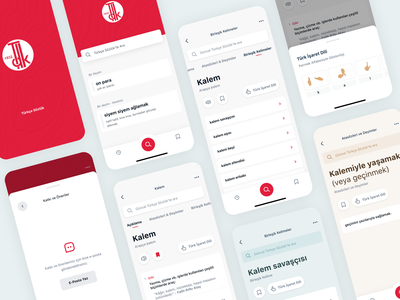 Turkish Dictionary — Application mobile ui mobile app design mobile app mobile design ui design mobile whitespaces user experience design ux clean ui