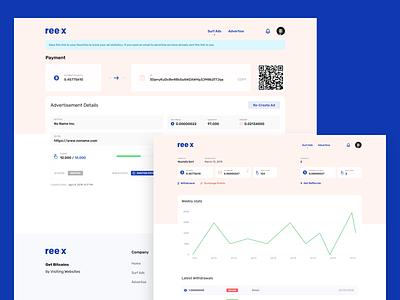 Reex — Get Bitcoins [Concept] dashboard landing page concept branding logo ui design whitespaces user experience design web ux clean ui