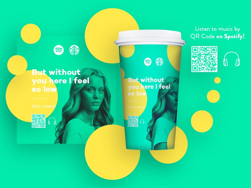 Spotify x Starbucks: Rev. 1 coffee zara larsson clean experience starbucks spotify packaging