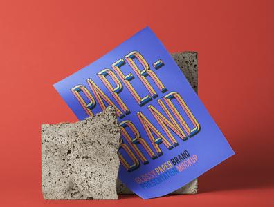 Free Psd Glossy Paper Brand Mockup