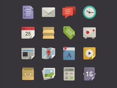 Flat Design Icons Set Vol1 flat design icons set