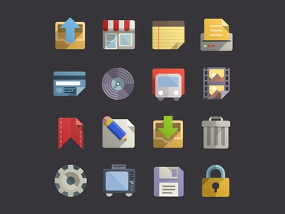 Flat Design Icons Set Vol3