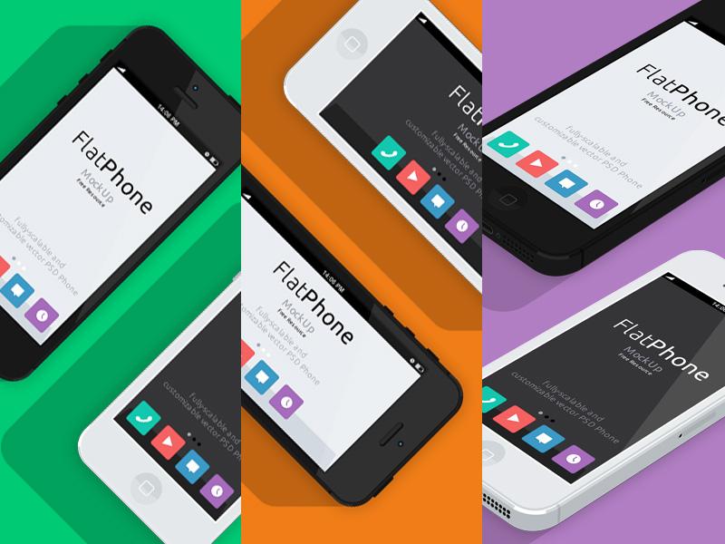 iPhone 5 Psd Flat Design Mockup iphone 5 psd flat design mockup