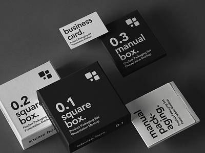 Free Psd Product Packaging Mockup Set box mockup packaging mockup