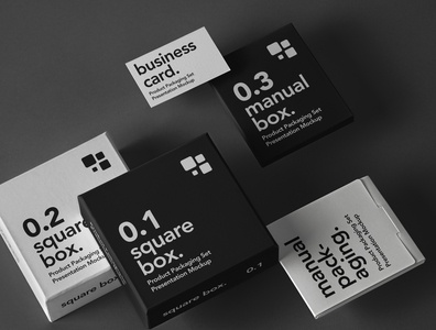 Free Psd Product Packaging Mockup Set box mockup packaging mockup