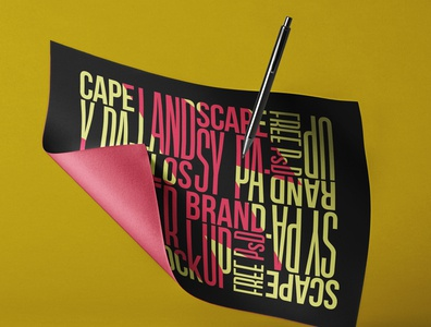 Free Brand Psd Paper Mockup Landscape