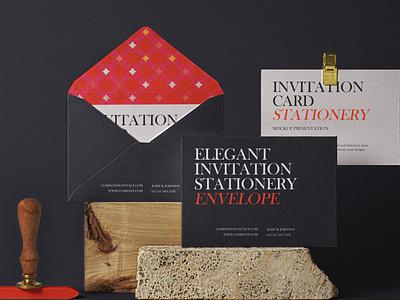 Free Elegant Psd Invitation Mockup Set invitation mockup envelope mockup