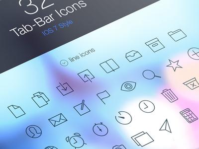 iOS 7 Tab Bar Icons ios 7 tab bar icons