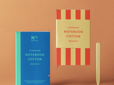 Free Cotton Psd Notebook Mockup pen notebook mockup