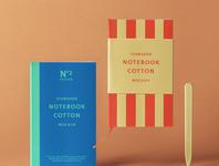 Free Cotton Psd Notebook Mockup