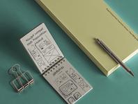Free Psd Ringed Notepad Mockup notepad mockup