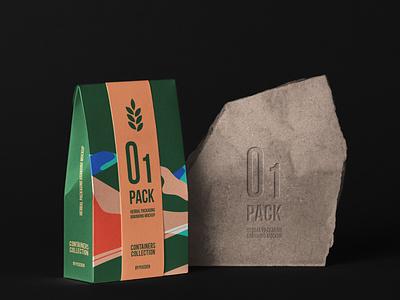 Free Herbal Psd Bag Packaging Mockup bag mockup