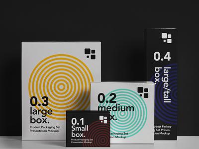 Free Packaging Psd Box Mockup Set box mockup product mockup