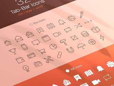 Tab Bar Icons iOS 7 Vol3