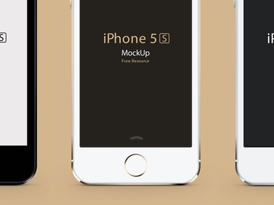 iPhone 5S Psd Vector Mockup