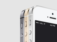 3/4 View iPhone 5S Psd Vector Mockup