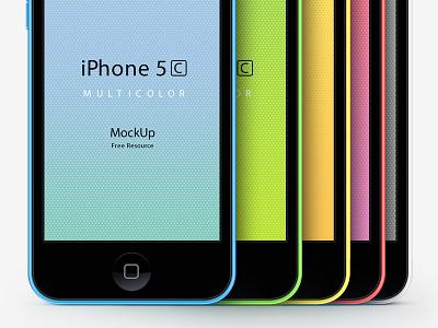iPhone 5C Psd Vector Mockup iphone 5c psd vector mockup