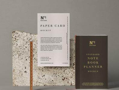 Free Psd Notebook Stationery Mockup branding mockup paper mockup notebook mockup mockup