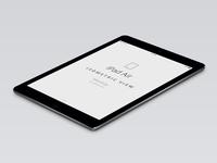 Psd iPad Air Perspective Mockup