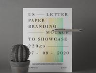 Free US Letter Brand Paper Mockup paper mockup letter mockup