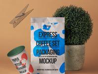 Free Psd Paper Bag Mockup Showcase coffee mockup coffee cup paperbag paperbag mockup