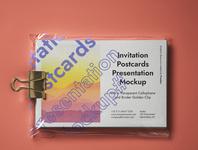 Free Psd Postcard Mockup Presentation invitation mockup postcard mockup
