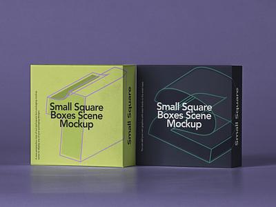 Free Small Psd Square Box Mockup Set psd mockup box design box packaging design box art box mockup set box packaging mockup square box packaging box mockup