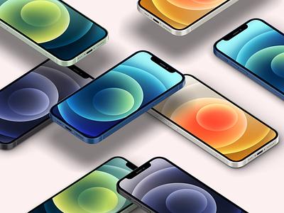 Free Psd Iphone 12 Mockup Set iphone 12 mockup psd iphone 12