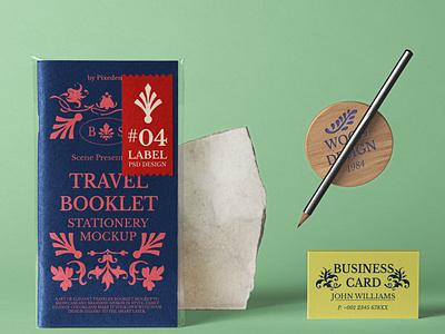 Free Travel Psd Booklet Mockup Scene branding design branding mockup booklet mockup