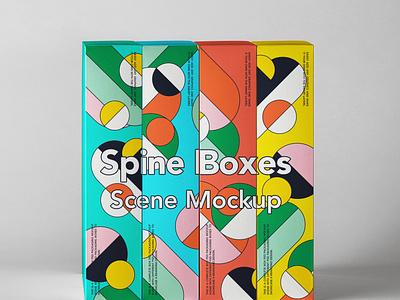 Free Spine Psd Boxes Packaging Mockup Set packaging mockup box mockup